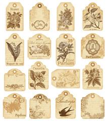 16 étiquettes fleurs et jardin