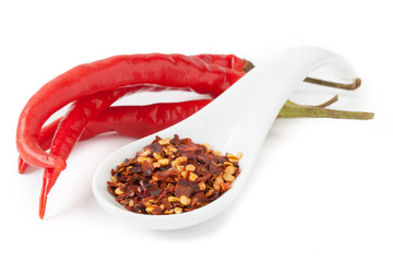 Chili pepper isolated on white background III