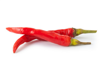 Chili pepper isolated on white background IV
