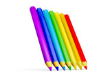 3D colour pencils poster