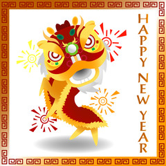Happy Chinese New Year (Chinese Lion)