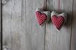 Zwei rote Herzen - Herzschlag Hintergrund
