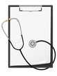 clipboard blank sheet of paper and stethoscope vector illustrati
