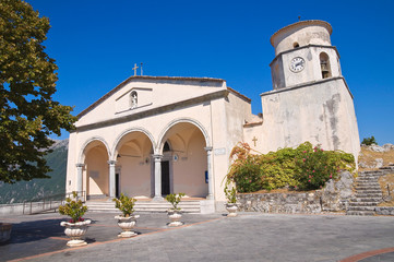 Basilica church of St. Biagio. Maratea. Basilicata. Italy.