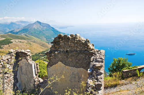 Ruins castle. Maratea. Basilicata. Italy.