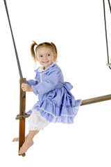 Happy on an Old-Time Swing