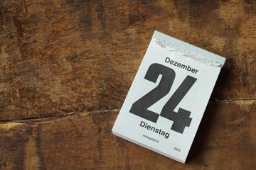 kalenderblatt weihnachten