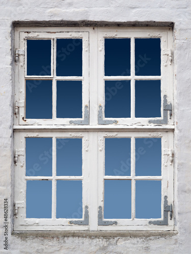 canvas print picture altes weisses Fenster