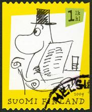 FINLANDE - 2009: affiche les caractères Moomin