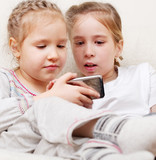 Children with mobile phone