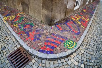 Gesteig bemalt Straßenkunst