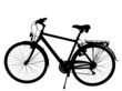 silhouette of a road bike isolated with clipping path