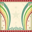 Rainbow square circus invitation