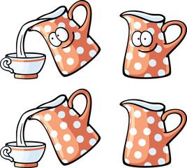 cute foods - red milk jug