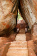 The staircase on Sigiriya (Lion's rock) is an ancient rock fortr