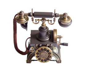 Retro vintage phone isolated