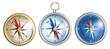Leinwanddruck Bild - compass illustrations set isolated on white