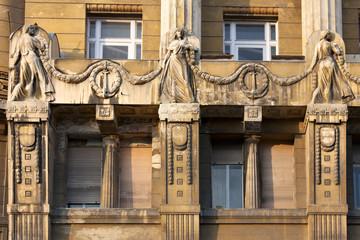 Budapest - Palazzo liberty decorazione