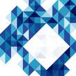 Blue modern geometric design template