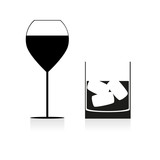 Wine and/or Whisky , vector