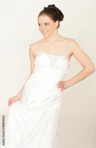 Schönheit im Brautkleid