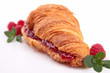 croissant with raspberry
