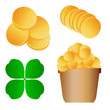 Patrick day vector set background for poster