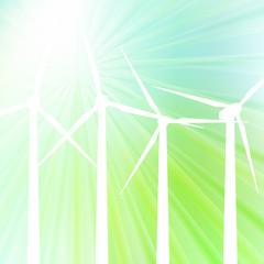 Wind generator vector background