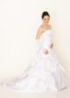 Braut mit weißen Handschuhe