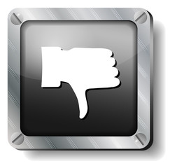 steel thumb down icon