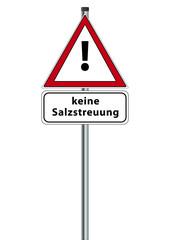 Schild keine Salzstreuung