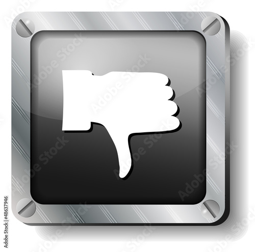 steel thumb down icon