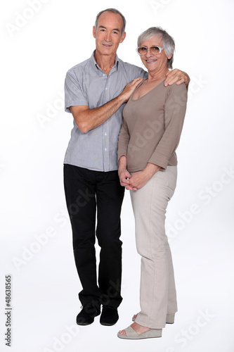Full length senior couple