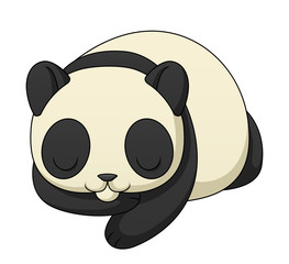 Sleeping Cartoon Panda