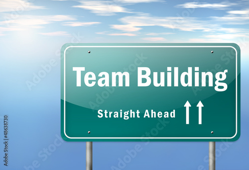 "Highway Signpost ""Team Building"""