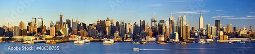 Panel Szklany Manhattan Midtown skyline panorama before sunset, New York