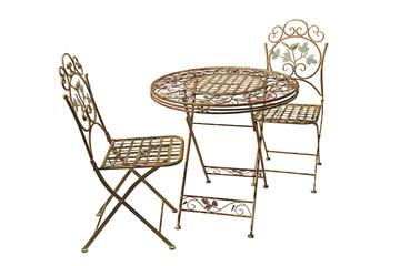 table et chaises de jardinen fer  forgé