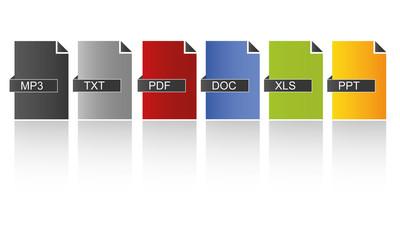 Dokumente farbig