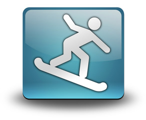"Light Blue 3D Effect Icon ""Snowboarding"""