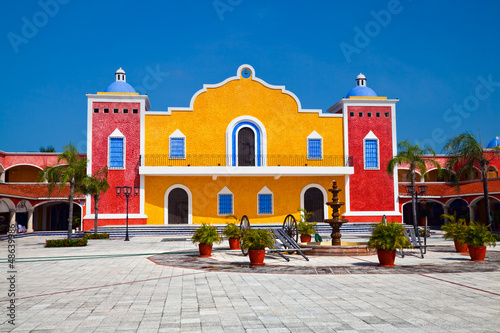 Leinwandbild Motiv Mexican Hacienda