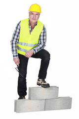 Portrait of a stonemason