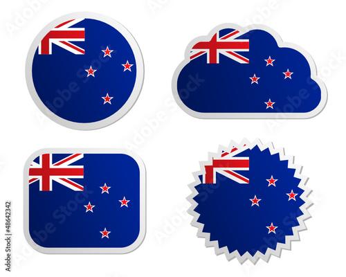 Fahne Neuseeland Sticker