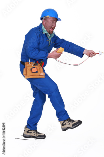 electrician having an accident