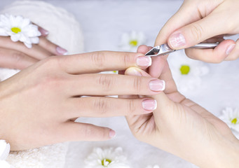 French manicure for female