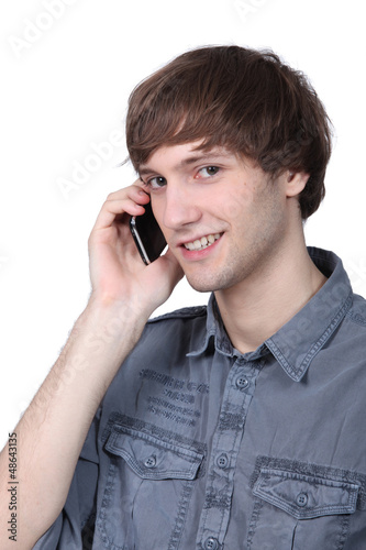 Young man on cellphone