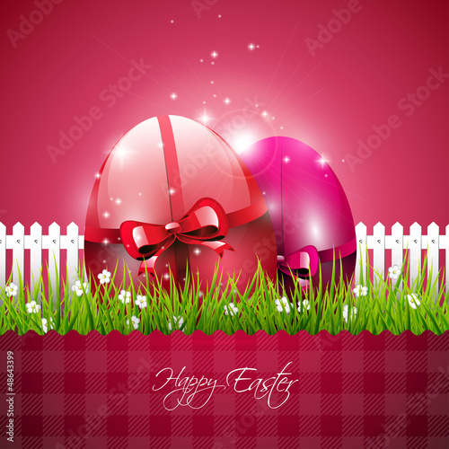 Pink modern Easter background