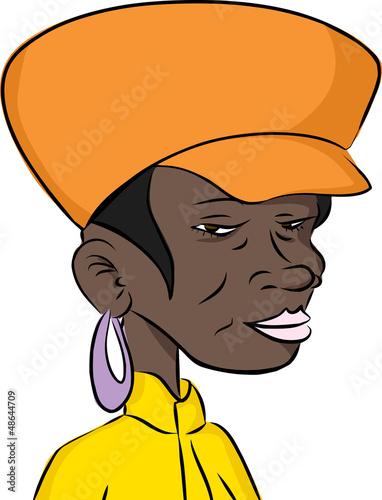 Grinning Black Woman