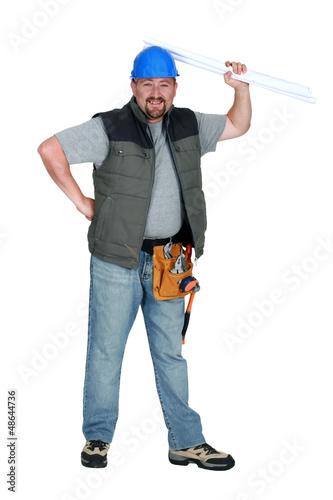 Smiling foreman