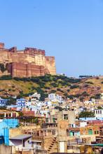 Une vue de Jodhpur, la ville bleue du Rajasthan, en Inde