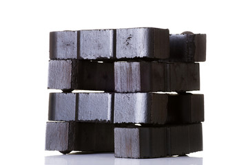 Lignite coal briquette